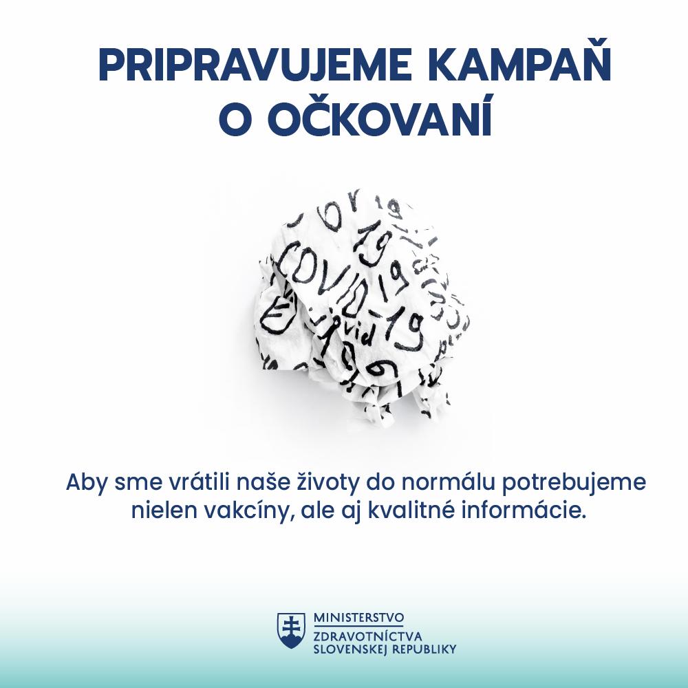 Informace o přípravě komunikační kampaně očkování od Ministerstva zdravotnictví SK