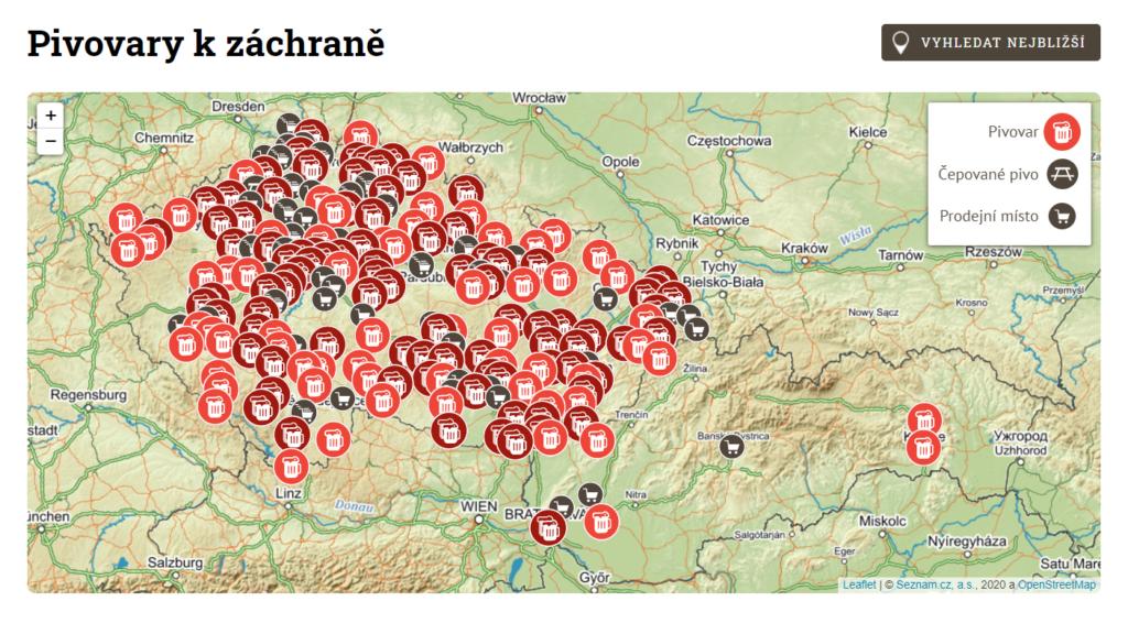 Na mapě iniciativy Zachraň pivo se nově objevily i minipivovary ze Slovenska.